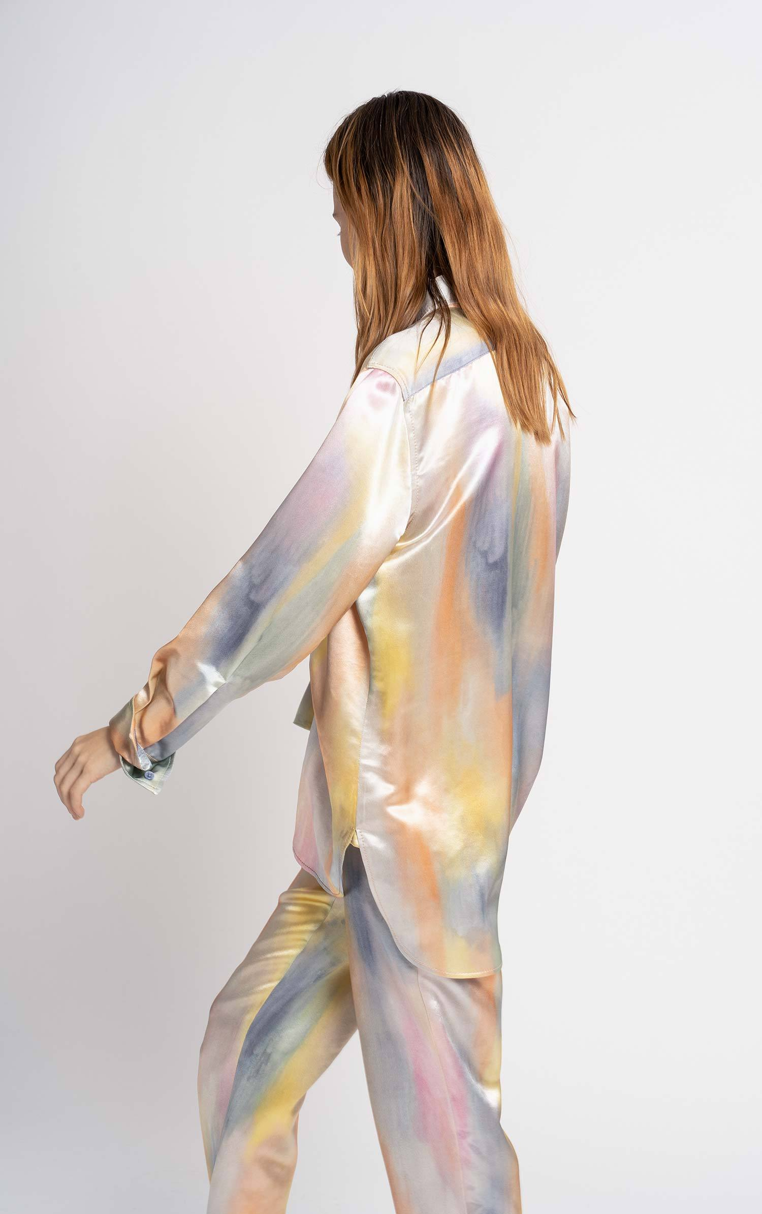 Sander Printed Satin Shirt