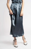 Xael Fluid Satin Midi Skirt
