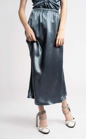 Xael Fluid Satin Bias Midi Skirt
