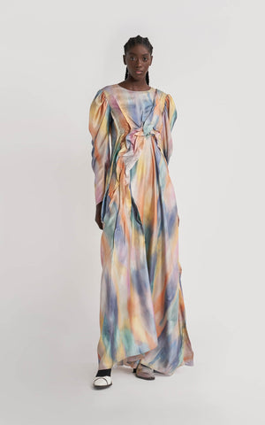 Virginia Printed Silk Twill Full Dress