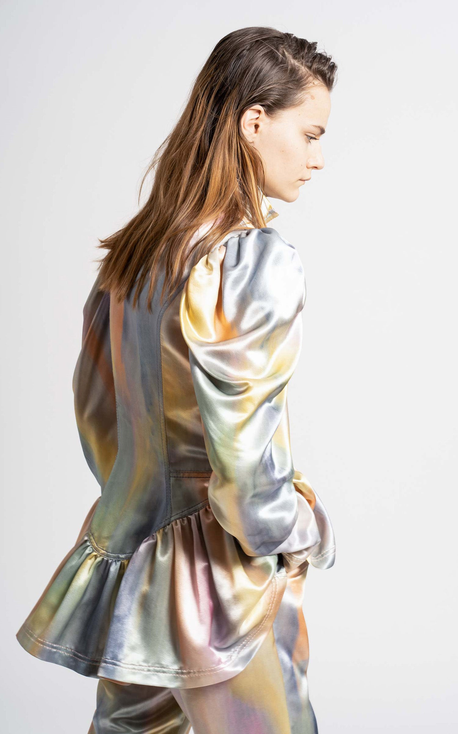 Thea Printed Satin Jacket