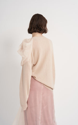 Awa Wool Cashmere Poof Crew Sweater