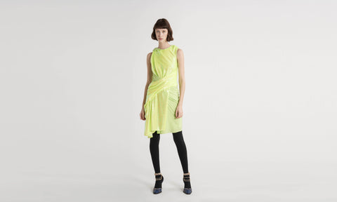 Quincy Neon Sequin Wrapped Dress