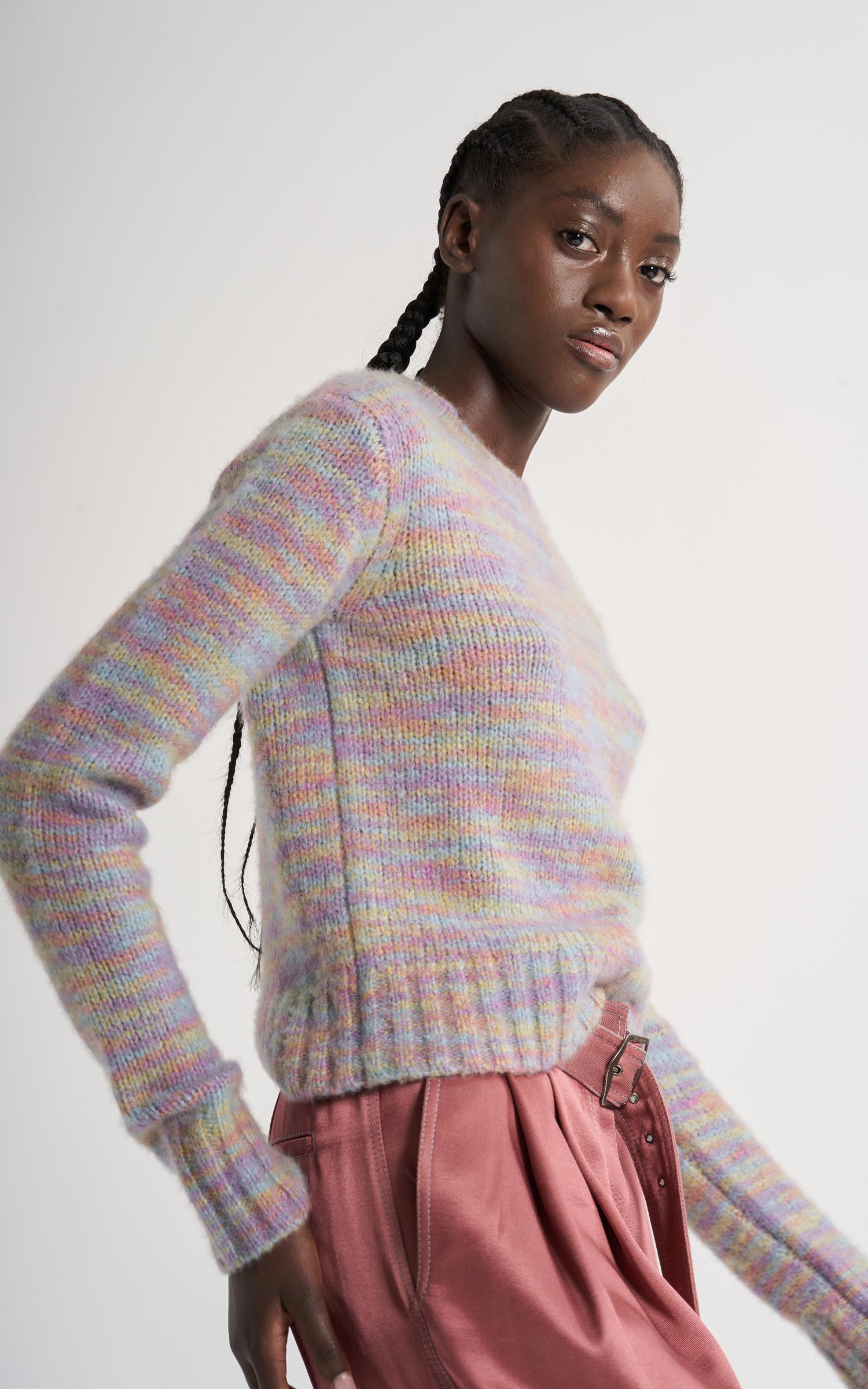 Xie Wool Silk Crew Sweater