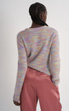 Xie Multicolored Wool Silk Crew Sweater