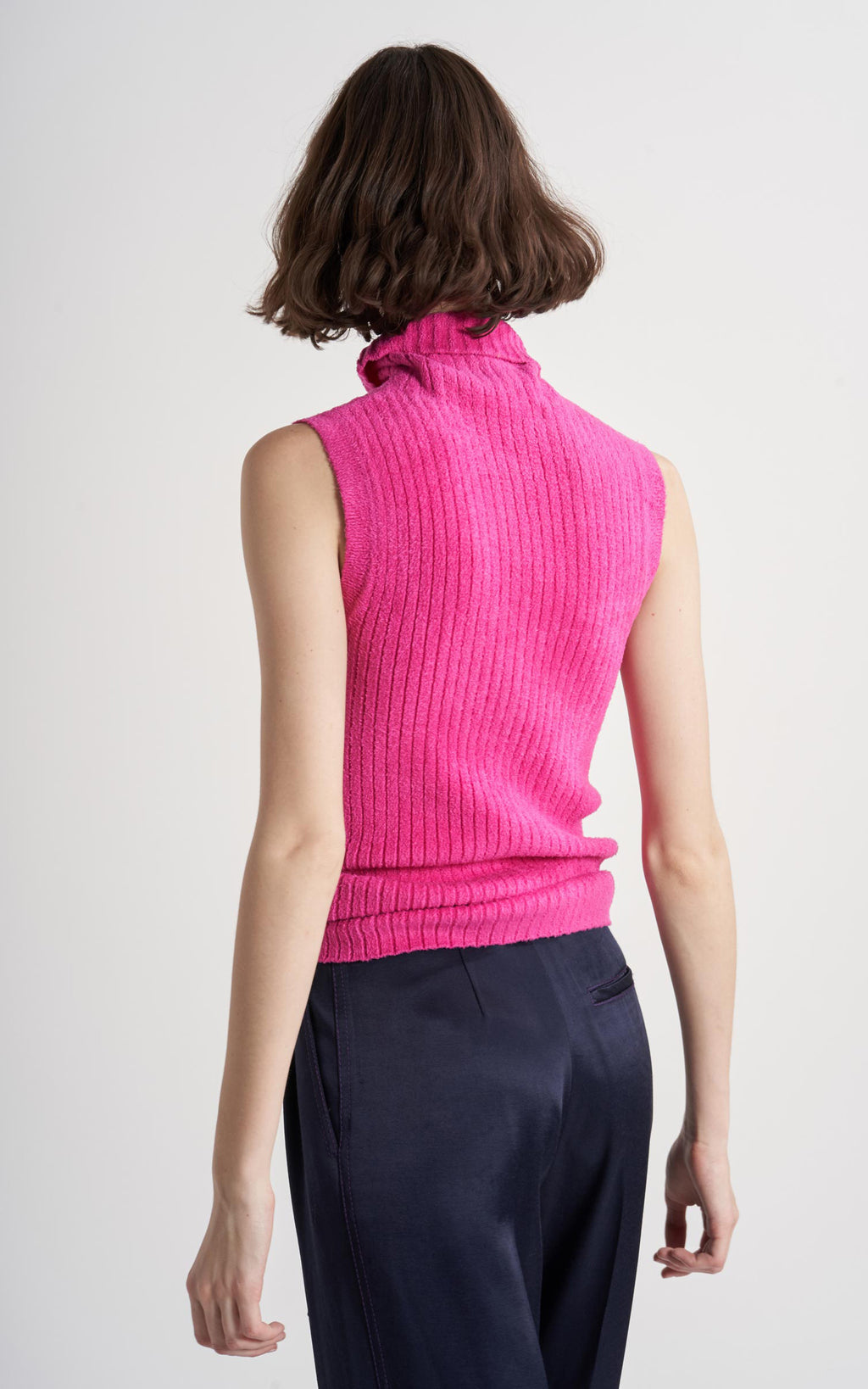 Saya Ribbed Sleeveless Turtleneck Sweater