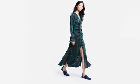 Jade Lurex Midi Dress