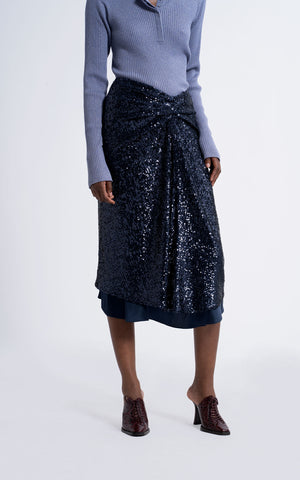 Kayla Stretch Pailette Skirt
