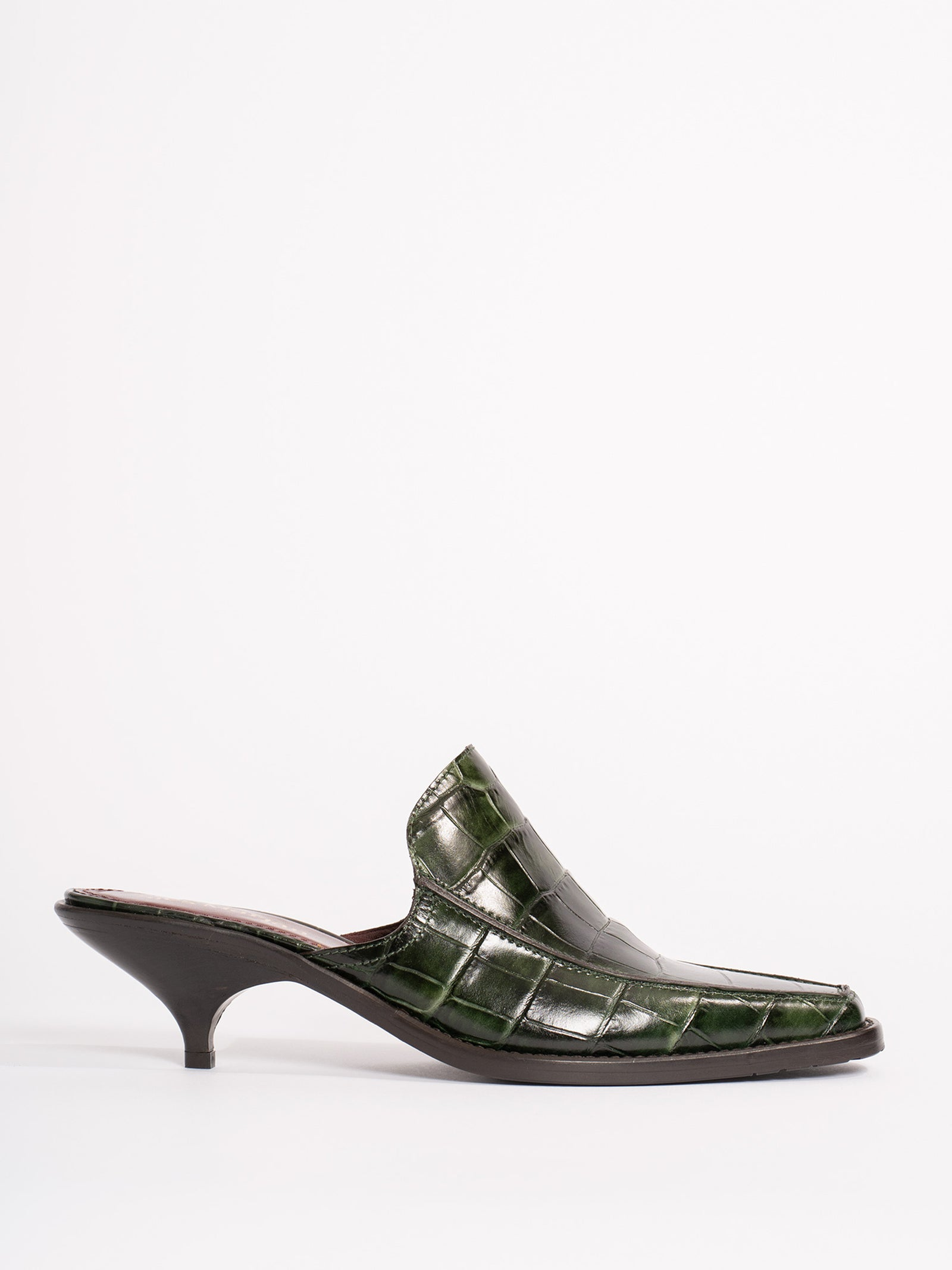 Kaya Embossed Croco Mule