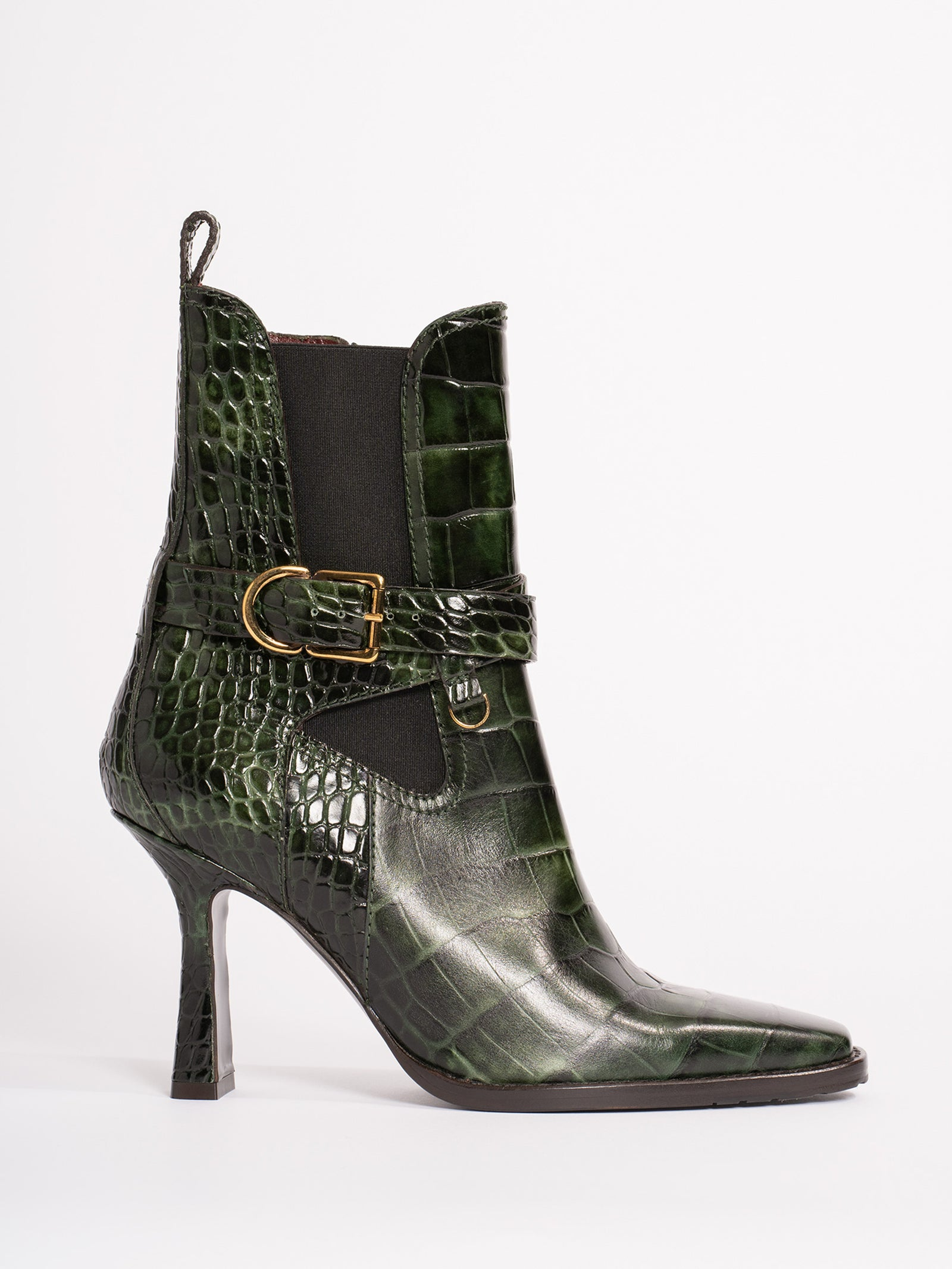 Naomy Embossed Croco Boot