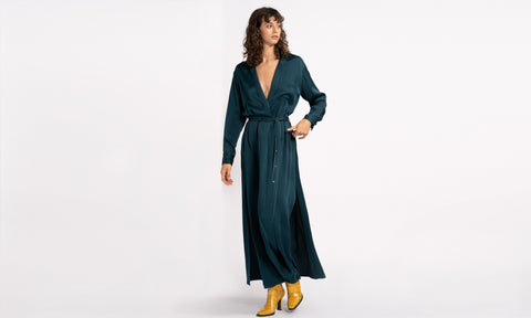 Aviva Crepe Shirt Dress