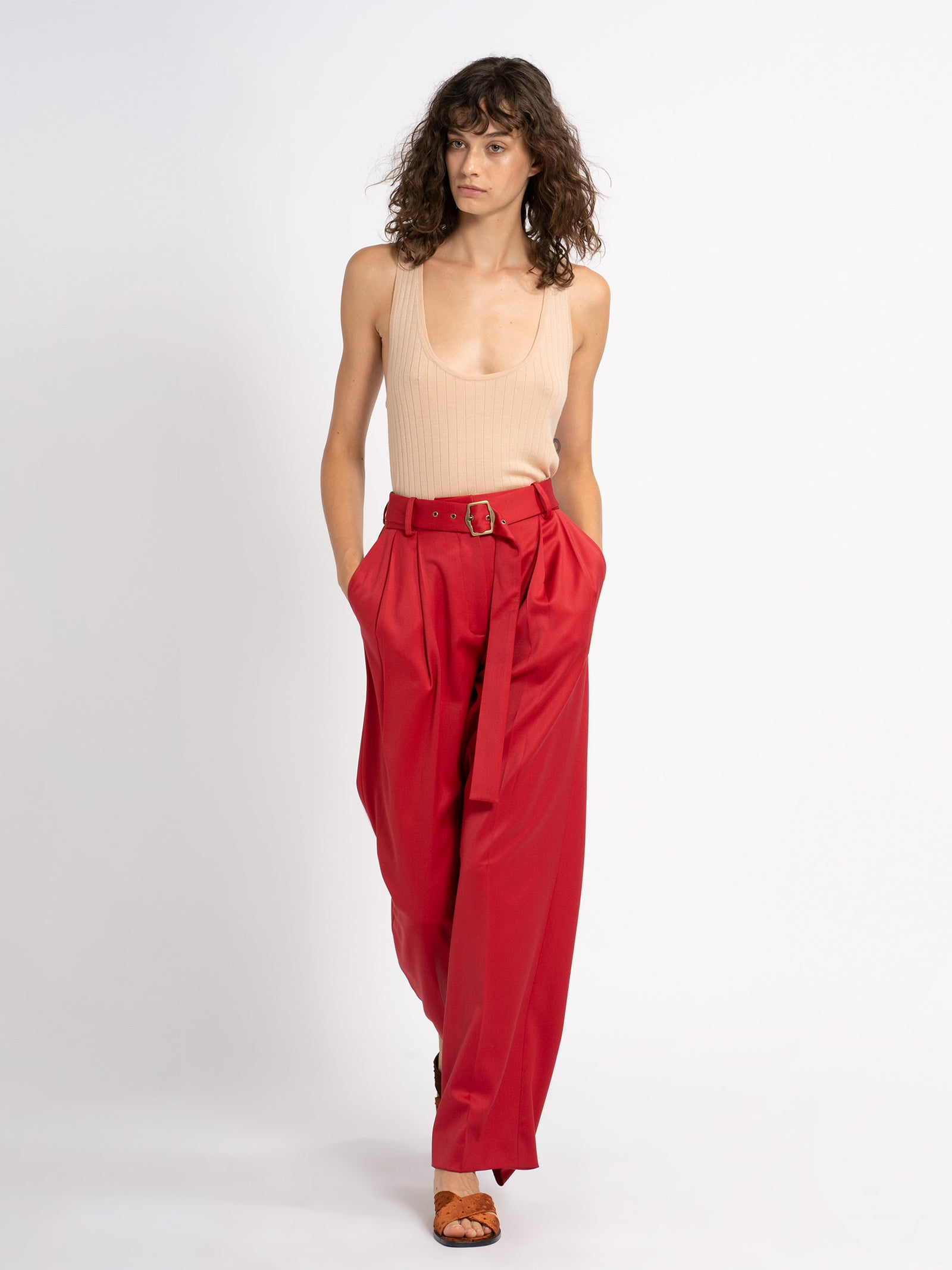 Blanche Wool Twill Pant