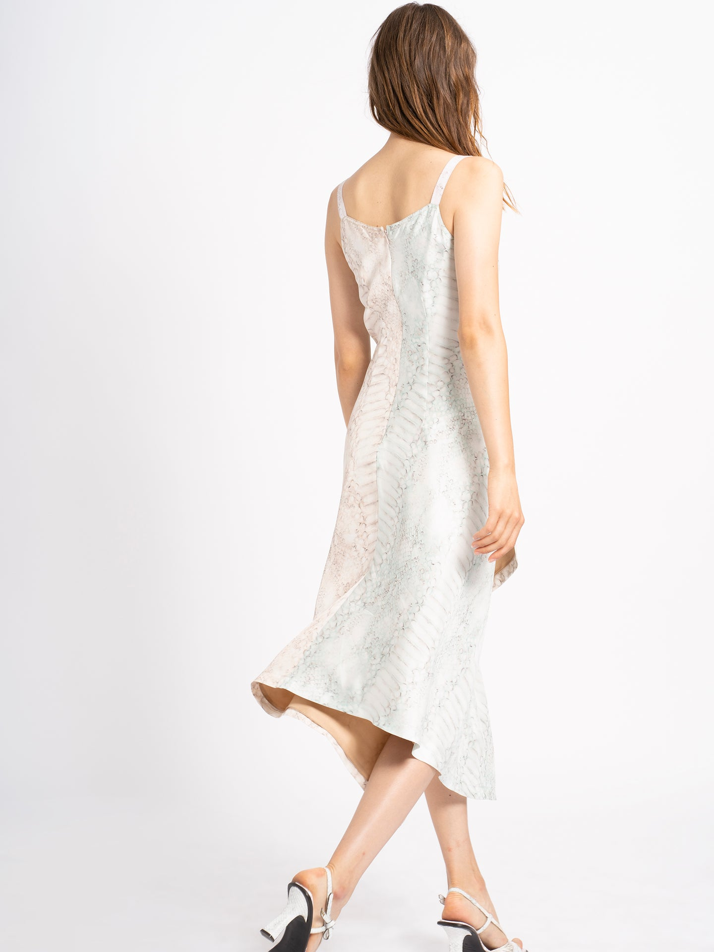 Alicia Printed Silk Dress