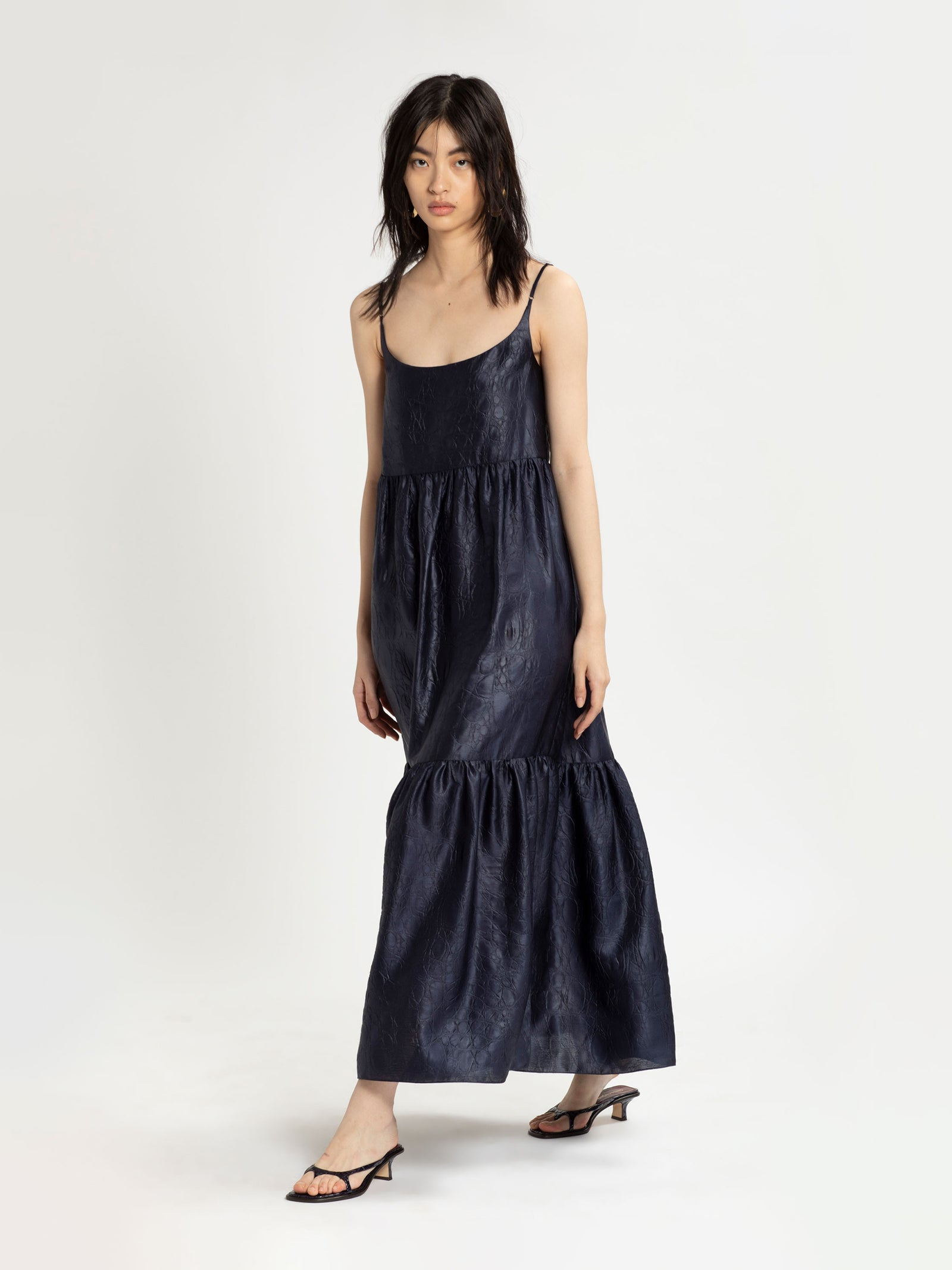 Brianna Satin Maxi Dress
