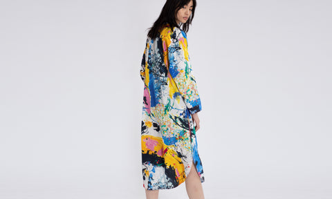 Ina Printed Shirt Dress