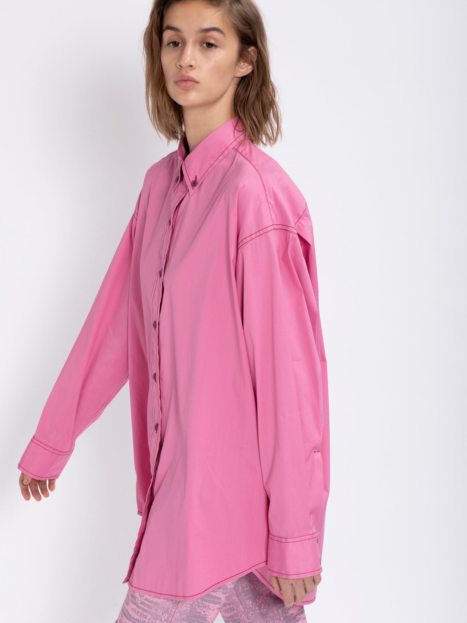 Kiki Stretch Oversized Cotton Shirt