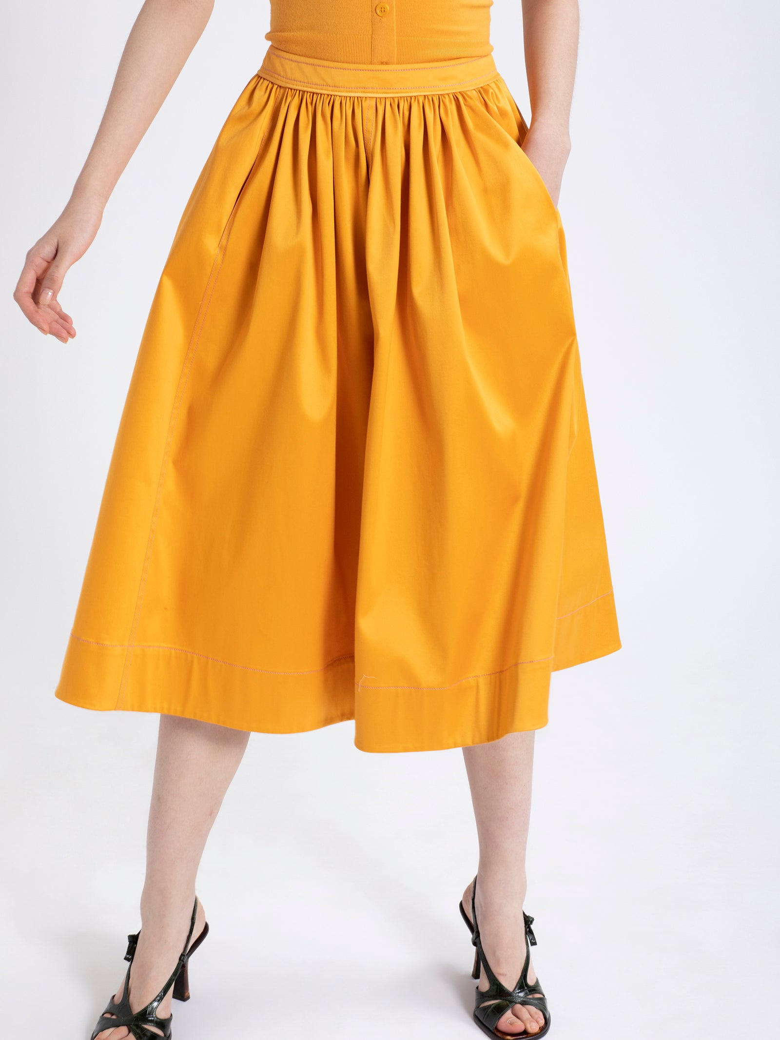 Eliza Stretch Cotton Skirt