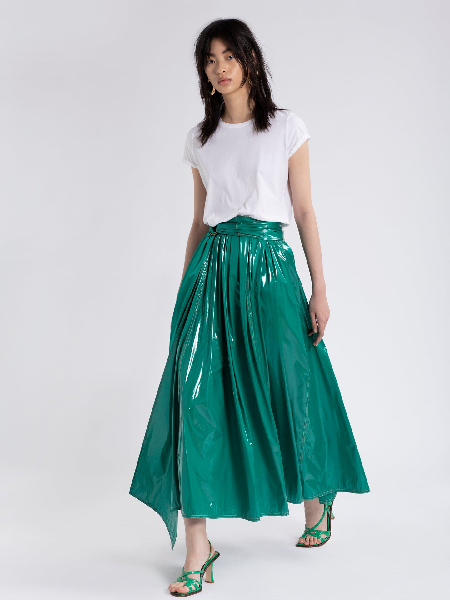 Amalia Glossy Coated Skirt