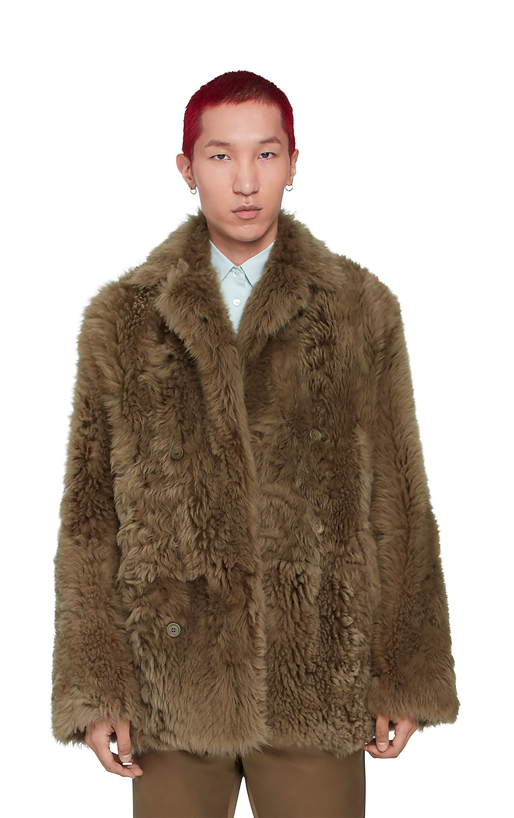 Emery Tigrado Shearling Peacoat