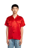 Dean Washed Satin Pocket Button Shirt