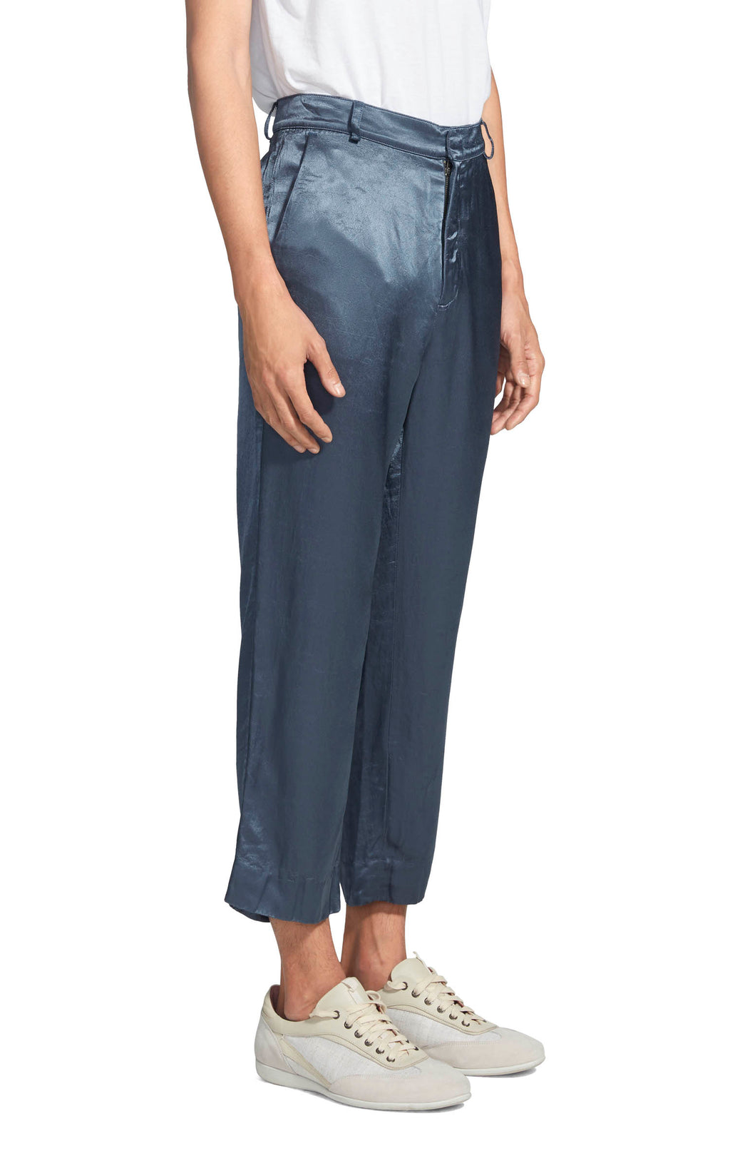 Alex Washed Satin Cropped Pant