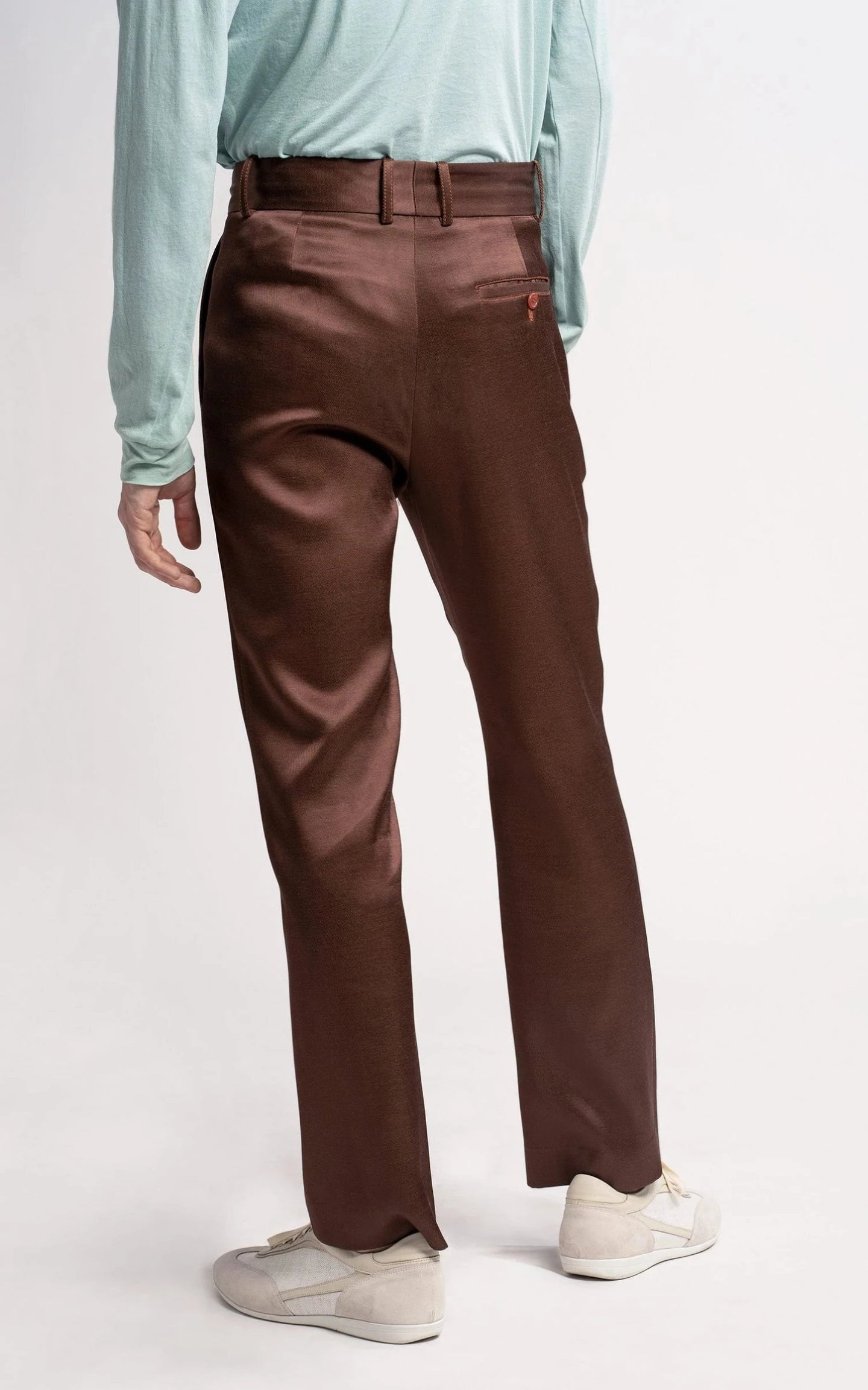 Toby Twill Satin Straight Leg Pant