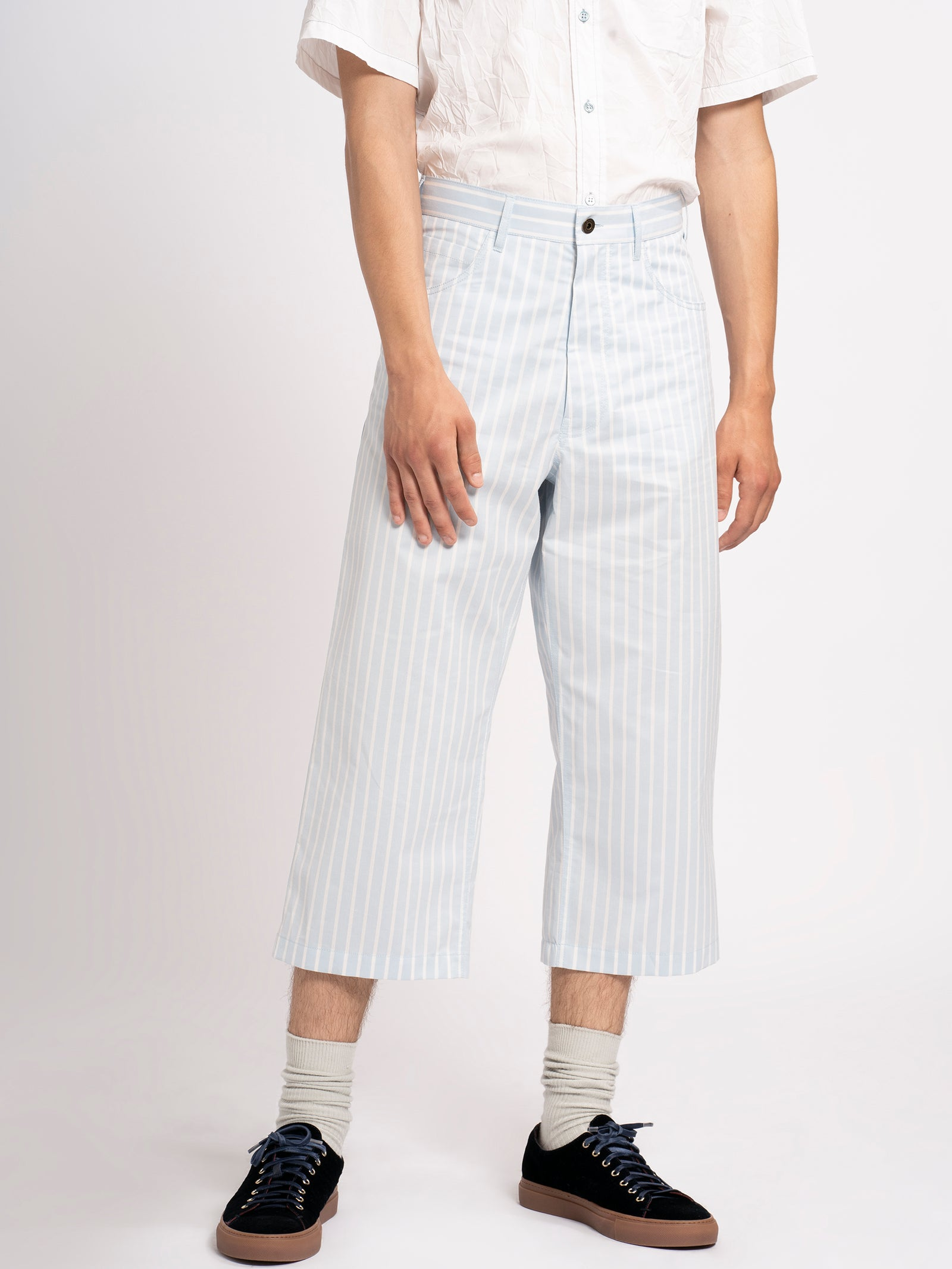 Xavier Striped Cotton Pant