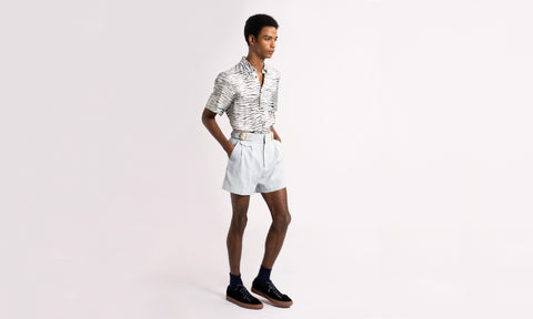Johnny Cotton Crepe Short