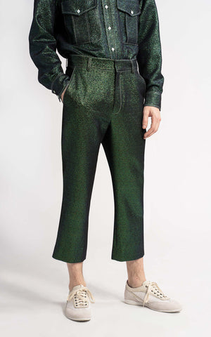Alex Lurex Twill Cropped Pant
