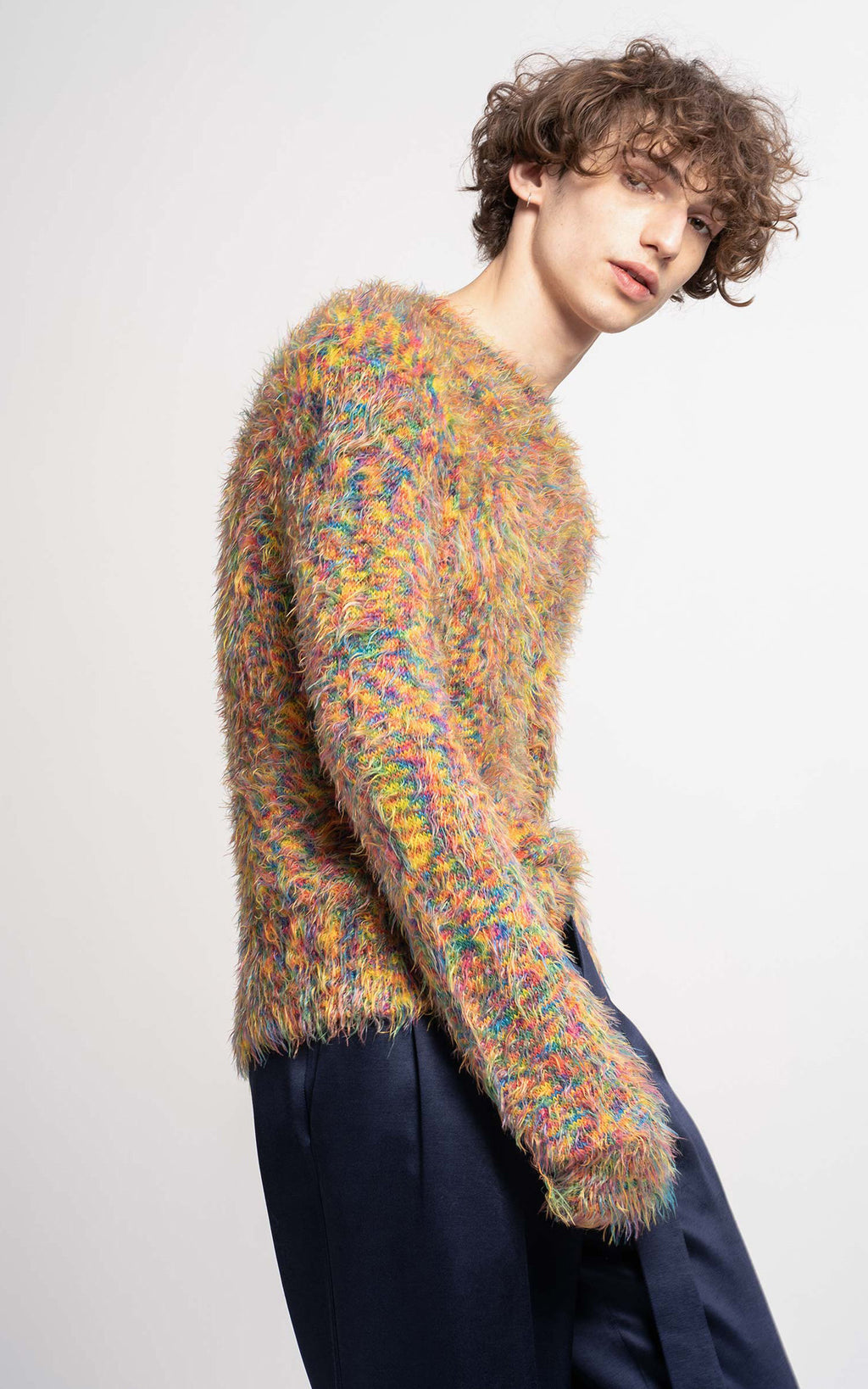 Roman Multicolor Crewneck Sweater