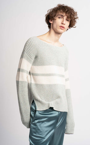 Gilles Cashmere Melange Wide Neck Sweater