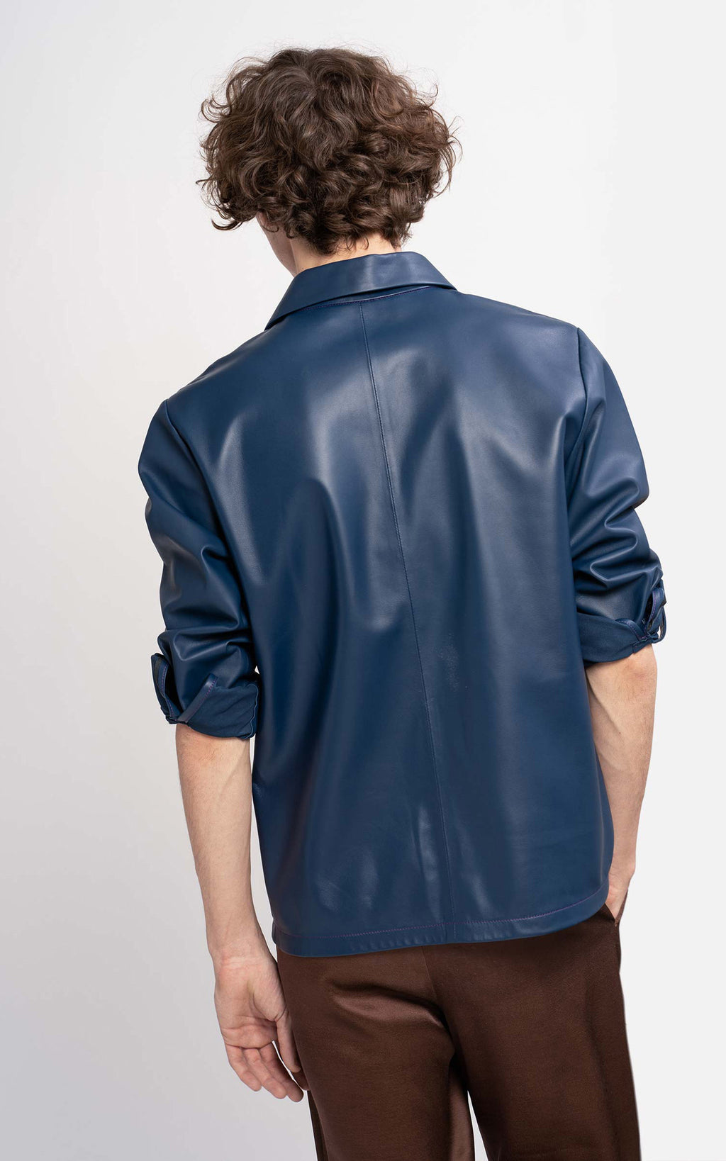 Oliver Leather Pocket Shirt
