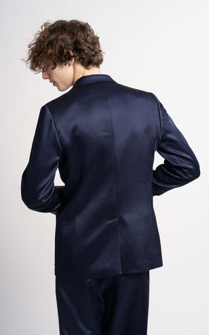 Roger Twill Satin Single Breasted Blazer