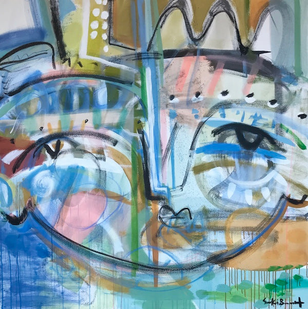 Cassidy Face 54x54 on canvas