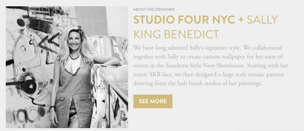 STUDIO FOUR NY + SALLY KING BENEDICT WALLCOVERING