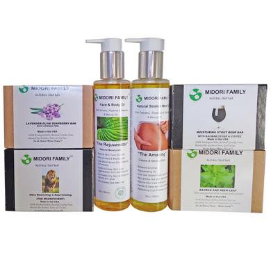 6 Piece Mega Natural Face & Skin Care Bundle