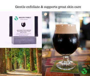 Natural black soap for Clear skin - w/ coconut charcoal, beer, coffee and essentials