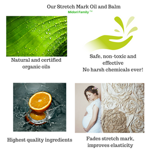 Organic stretch mark oil and balm