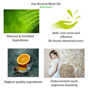 Stretch Mark Oil - Fades and improves elasticity - 6oz