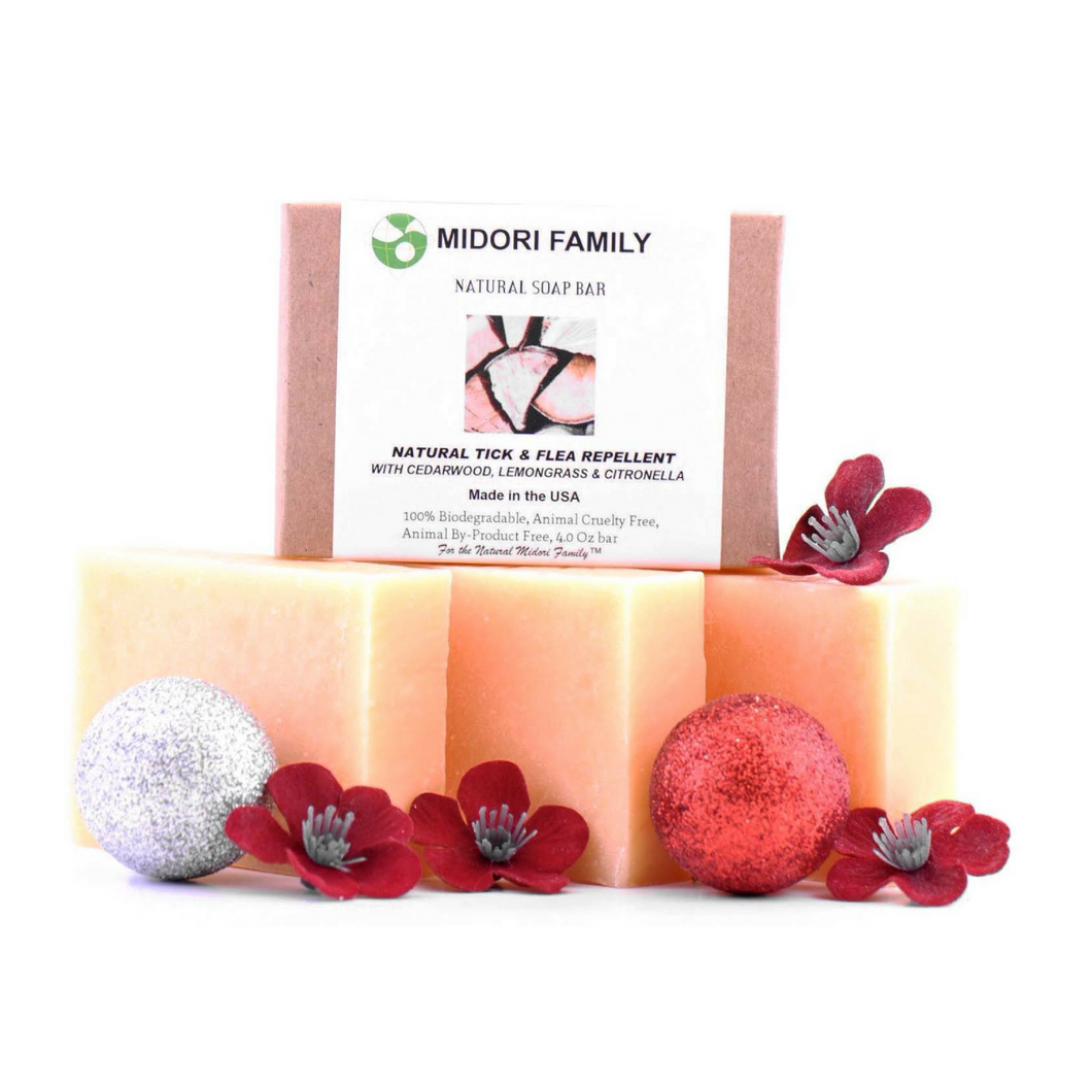 People Care | Repellent Soap Bar- With Cedarwood,LemonGrass & Citronella-3 Pack Bundle