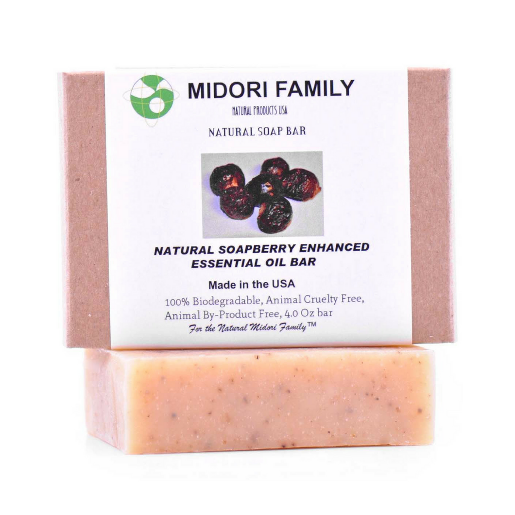 Natural Soapberry Soap w/ Enhanced Essential Oil Blend | Natural soapnuts