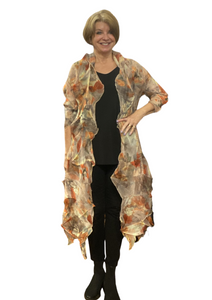 sheer pleat duster by vanite couture