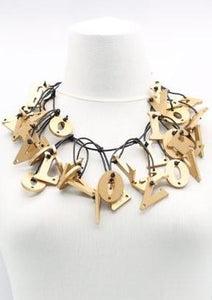 gold L-O-V-E necklace by jianhui