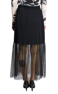 long skirt with mesh bottom from luukaa