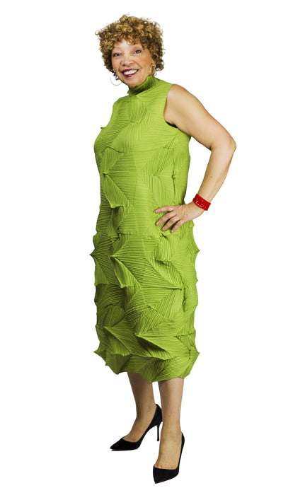 sleeveless pleated dress from vanite couture