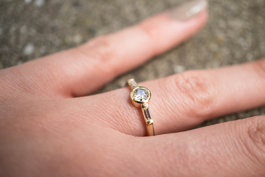 Bezel Set Old Mine Cut Ring