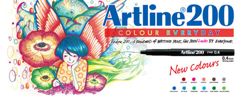 Artline Ballpoint Writing Pen Fine 0.4mm EK-200