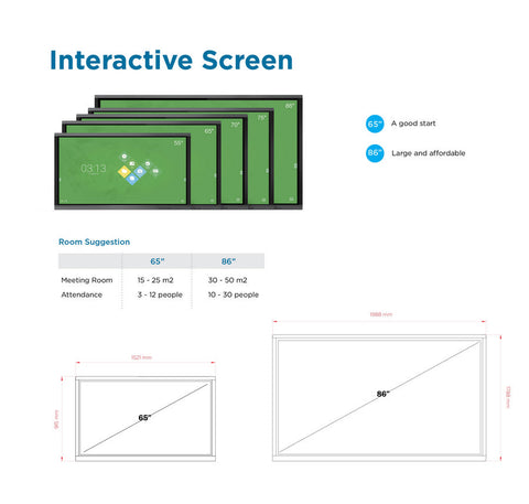 Interactive Collaborative Electronic (ICE) Board 4K UHD 86 Inch With OPS + Stand