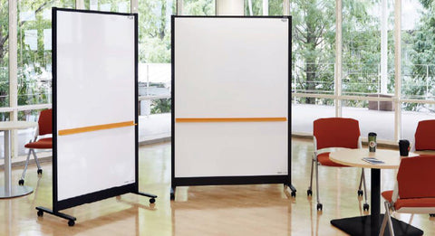 PLUS Double Sided Partition Whiteboard (W1250 X H1840 X D560mm) WBC-S1218DSK-BK-EU