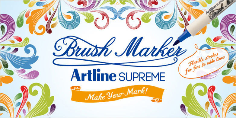 artline supreme brush marker